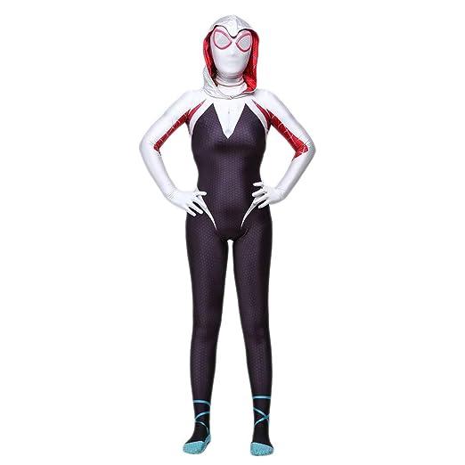 nihiug Gwen Hembra Spider-Man Traje Cósmico Paralelo Cosplay Anime ...