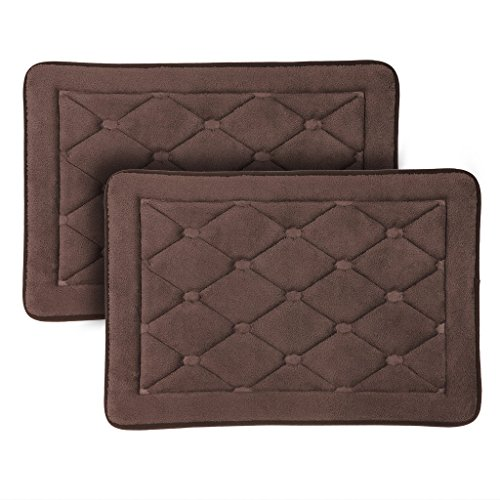 Can Bathroom Rugs Go In The Dryer: LANGRIA Bath Mats Memory Foam Bathroom Rugs Water