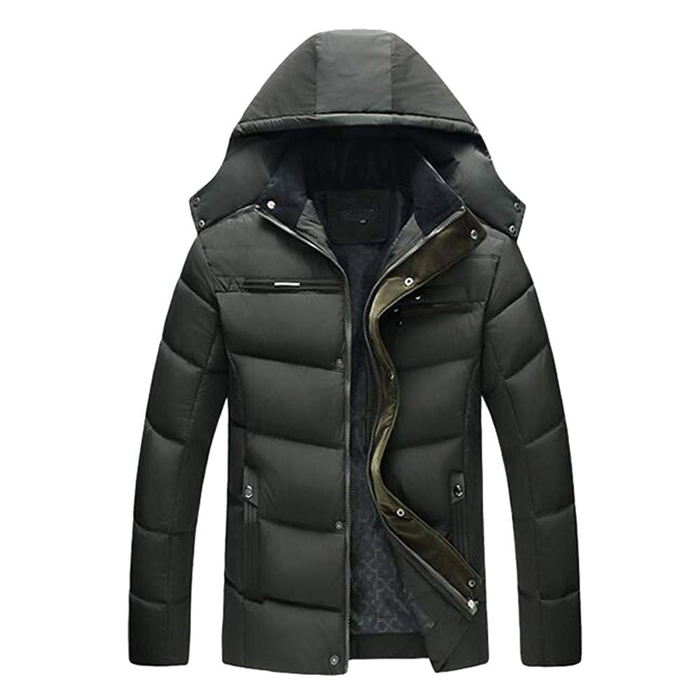 Big Promotion ! Warm Jacket, Men's Casual Hooded Winter Thick Coat Overcoat Big and Tall