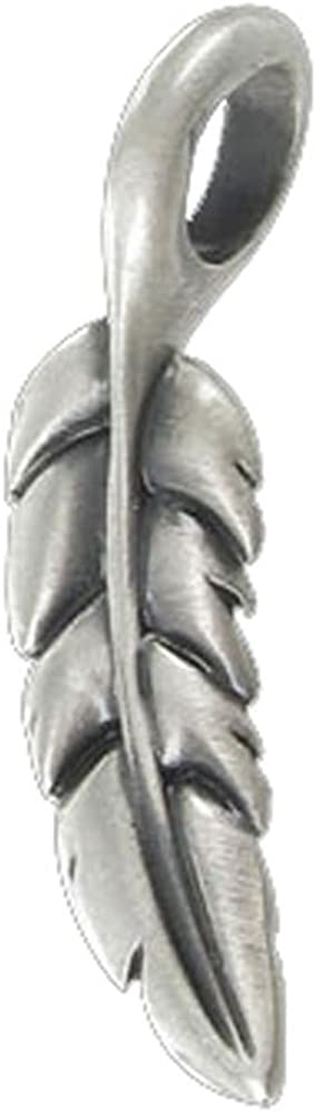 BICO Pacific Australia Jewelry Tribal Pewter Pendant Light Feather E216