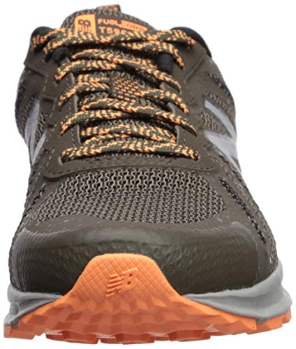 New Balance Women's 590v4 FuelCore Trail Running Shoe Light Chalkboard/Mango/rain Cloud 5.5 D US by New Balance (Image #4)