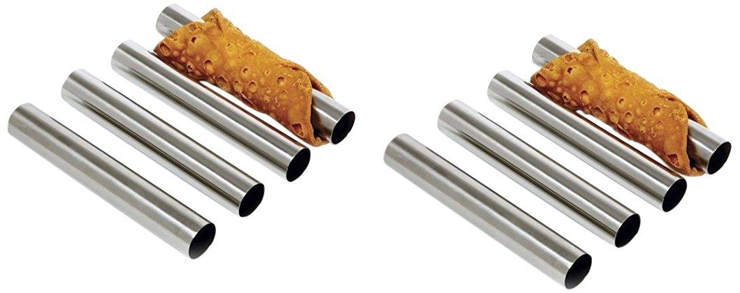 Fox Run 4509 Cannoli Forms, Tin-Plated Steel, Set of 4