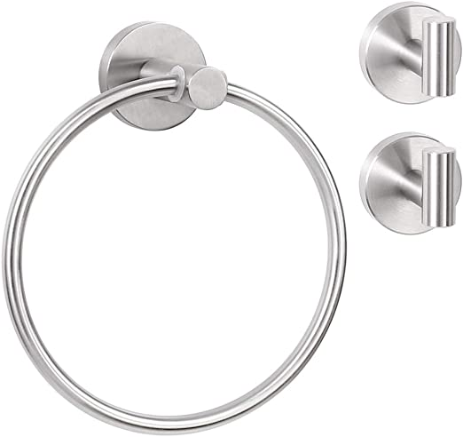 Towel Ring Holder Polished Chrome Bathroom Hardware Bath Accessory Hanger Ring