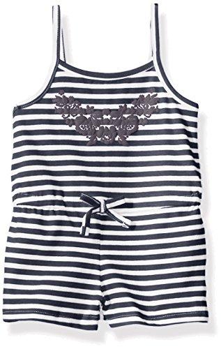French Toast Baby Girls' Stripe Romper, Navy, 12M