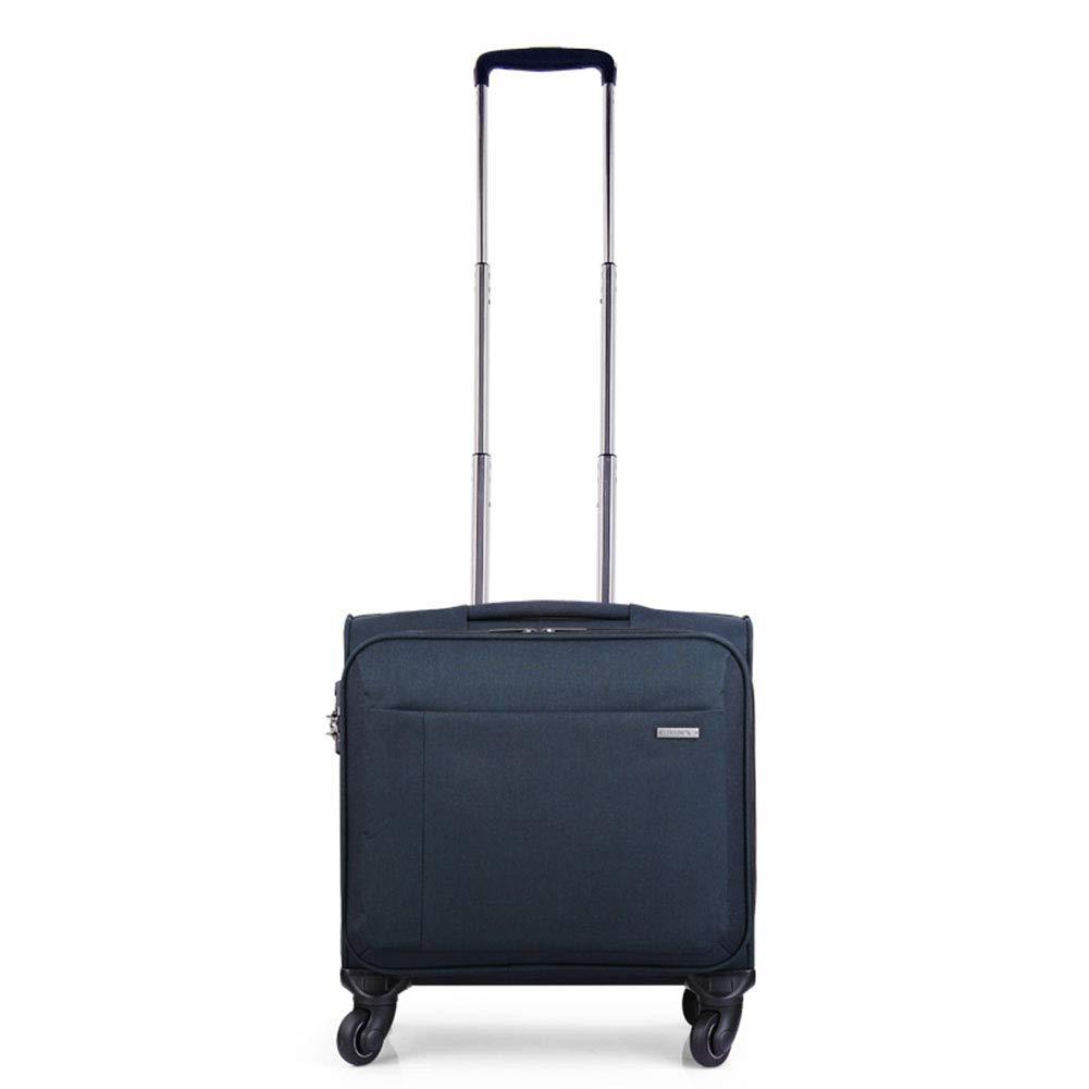 荷物を運ぶ、男性用ビジネストラベルスーツケース、女性用防水オックスフォードトロリースーツケース、TASロック、360°ローリングホイール,Blue,18inch B07VK9TQL2 Blue 18inch