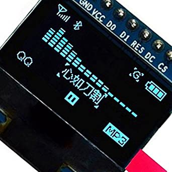 SLB Works 0 96 inch SPI Serial 128X64 OLED LCD Display SSD1306 for