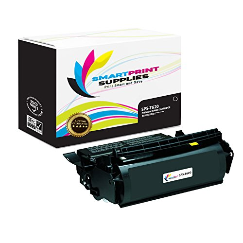 Smart Print Supplies Compatible 12A6865 Black High Yield Toner Cartridge Replacement for Lexmark Optra T620 T622 Printers (30,000 (T620 T622 Print Cartridge)