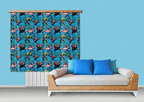 1art1 The Avengers Window Curtain - Captain America, Iron Man and Hulk (71 x 63 inches)
