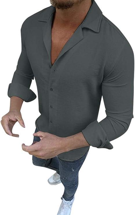DNOQN - Polo de Manga Larga para Hombre, Elegante, Camiseta para ...