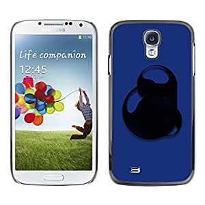LECELL -- Funda protectora / Cubierta / Piel For Samsung Galaxy S4 I9500 -- Blue Abstract --