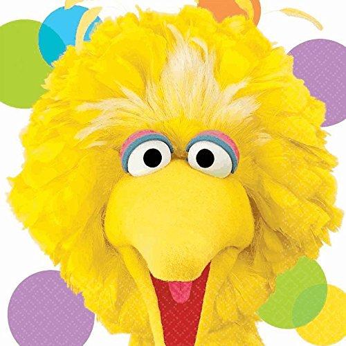 Sesame Street Party Big Bird Lunch Napkins (16) (Sesame Street Party Big Bird Lunch Napkins)