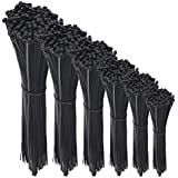 600 Pcs Nylon Cable Zip Ties with Self-Locking 4/6/8/10/12/14 Inch & 0.145 Inch Width By Agolds