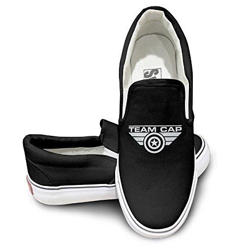 PTCY Captain America Civil Wars Athletic Unisex Flat Canvas Shoes Sneaker 37 Black (Shrek Costume Ideas)