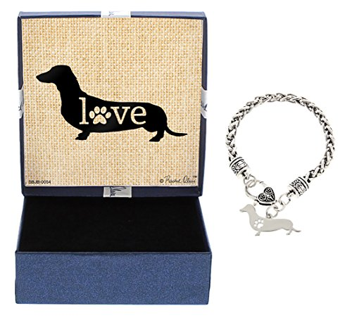 achshund Bracelet Gift Love Dog Breed Silhouette Charm Bracelet Silver-Tone Bracelet Gift for Dachshund Owner Jewelry Box Mothers Day Gift Idea For A Rescue Dog Mom (Dachshund Rescue)