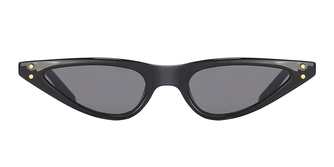 63e46ae0a0a TIJN Small Frame Retro Skinny Narrow Drop Cat Eye Sunglasses For Women