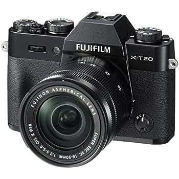 Fujifilm X-T20 Mirrorless Digital Camera w/XC16-50mmF3.5-5.6 OISII Lens - Black