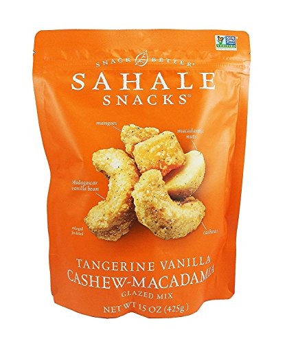 (Sahale Snacks Tangerine Vanilla Cashew Macadamia Glazed Mix Nuts 15 Oz.)