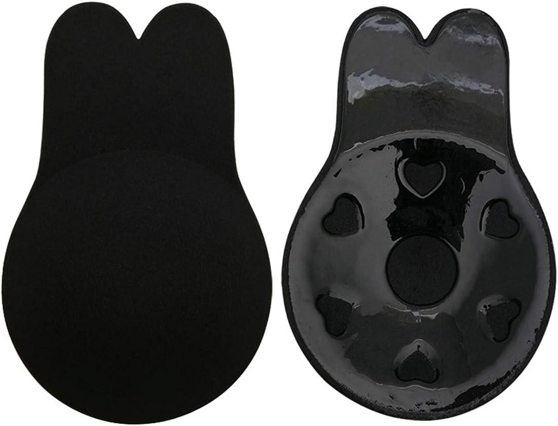 OLIPHEE Sollevamento Copricapezzoli a Coniglietto Reggiseno Invisibile in Silicone Autoadesivo Per Donna