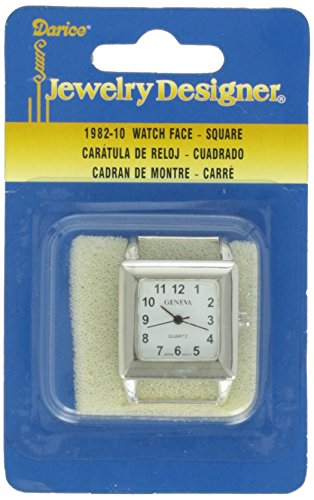 Darice Square Watch Face, Silver from Darice