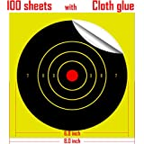 8 Inch Self Adhesive Shooting Targets, 100 Pack