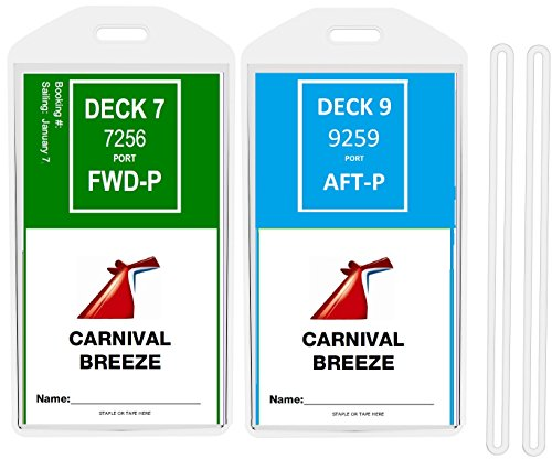 8 Pack Cruise Ship Luggage Tags  Wide  For Princess  Carnival  Costa  Holland America  P O  And Norwegian By Easy Read Register