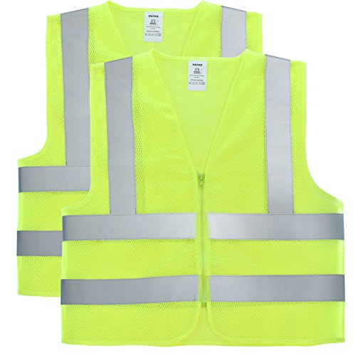 Neiko Visibility Yellow Zipper Reflective