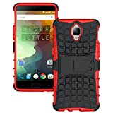 MOONCASE OnePlus 3 Case Detachable 2 in 1 Hybrid Armor Design Shockproof Tough Rugged Dual-Layer Case Cover with Built-in Kickstand for OnePlus 3 Red