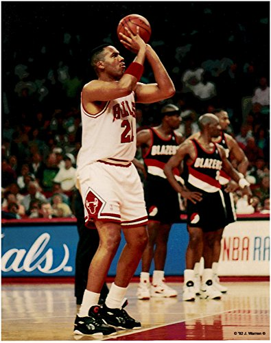 (Stacey King Chicago Bulls Unsigned Basketball)