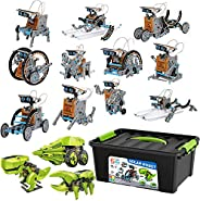 ToyVelt 12 in 1 Solar Robot Kit Plus A 3 in 1 Solar Building Toy and A Beatiful Storage Container Solar Powere