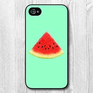 New Fashion Design Watermelon On Mint Pattern Protective Hard Phone Cover Skin Case For iPhone 5s +Screen Protector