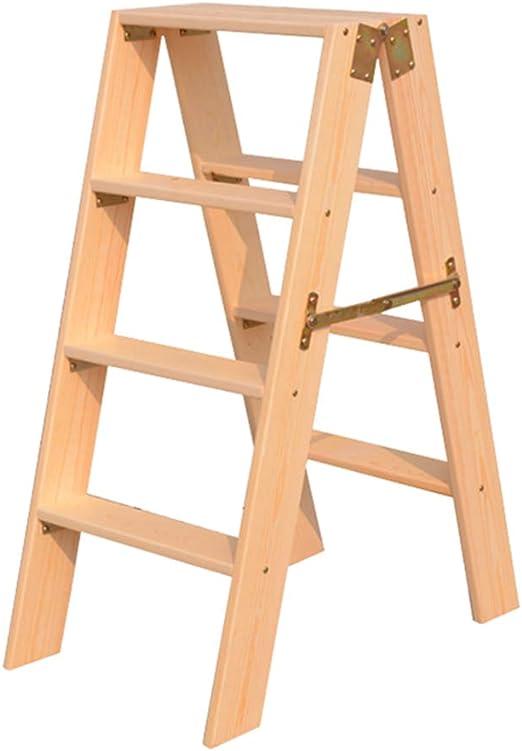 Escalera portátil Plegable de 4 peldaños, Escalera de escaleras ...