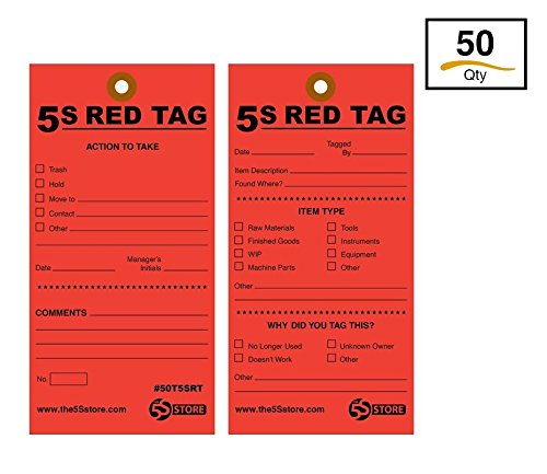 Large Red Tag Sign - The 5S Store 5S Red Tags w/12