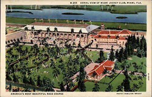 Aerial View of Miami Jockey Club Miami, Florida Original Vintage Postcard