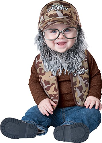Duck Dynasty Baby Infant Costume Uncle Si (Grey Beard & Glasses) - Infant Small ()