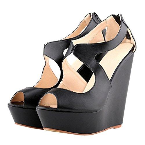 MERUMOTE - Sandalias de vestir para mujer Schwarz-Matte