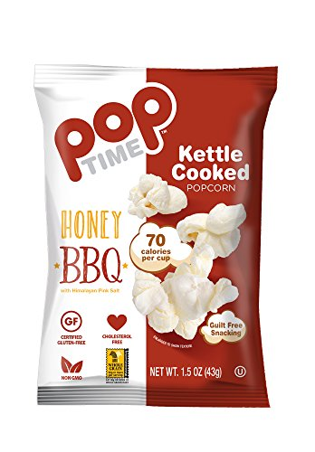 POP Time Kettle Corn, Honey BBQ - 1.5 OZ, (Pack of 24) Mouthwatering!