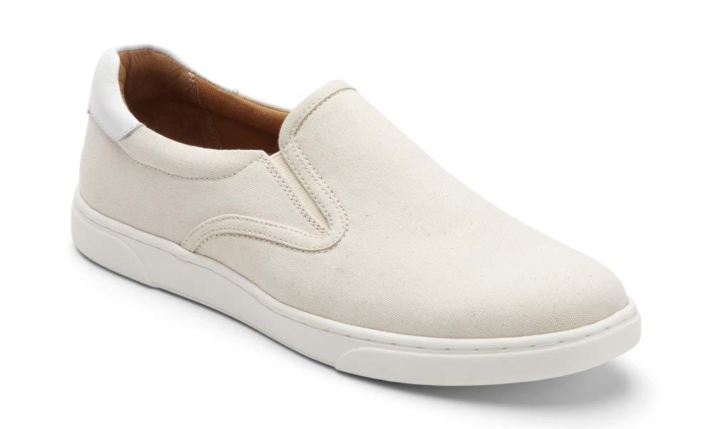 Vionic Men's Mott Brody Canvas Slip-on Sneaker White 9.5 M US