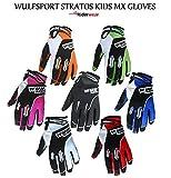 Wulfsport Stratos Junior Motocross Quad Pit Bike Off Road Enduro Kids Mx Gloves in Black, Blue, Green, Orange, Pink, Red, White