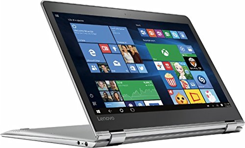 "Lenovo - Yoga 710 2-in-1 80V6000PUS 11.6"" Touch-Screen Laptop - Intel 7th generation Core i5-7Y54 - 8GB Memory - 128GB Solid State Drive - Silver"