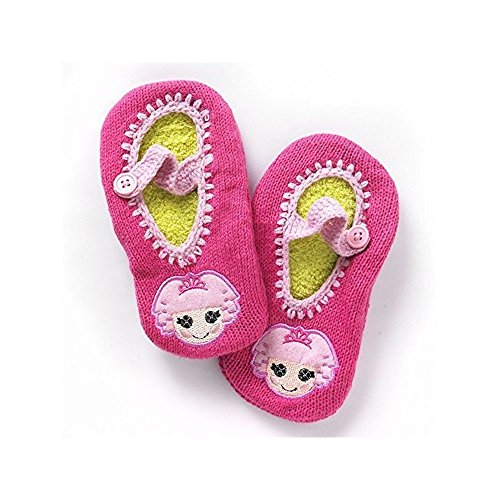 [Mary Jane Slipper Socks - Girls Size 6 to 8-1/2] (Lalaloopsy Costumes For Girls)