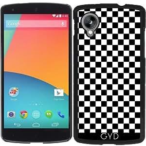Funda para Google Nexus 5 - Modelo A Cuadros Blanco Y Negro by Djuranne