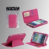 "Tab 3 7.0 Case - Bear Motion Premium Folio Case for 7 inch Samsung Galaxy Tab 3 7.0 - 7"" tablet (P3200) (Tab 3, Hot Pink)"