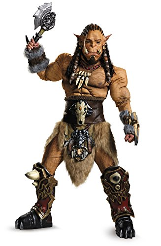 Best Halloween Costumes 2016 Mens (Disguise Men's Warcraft Durotan Prestige Costume, Multi, Medium)