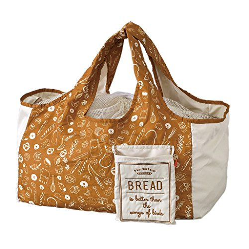 SPICE OF LIFE Go Green Eco Bag - Bread - Reusable Grocery Tote, Shoulder Shopping Purse