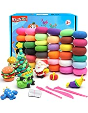 iFergoo Kids Clay 36 Color Ultra Light Air Dry Clay for Kids Modeling Clay Set DIY Educational Creative Magic Clay with Modeling Tools Accessories Art Set Gift for Boys Girls