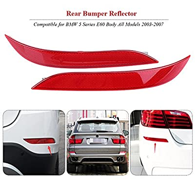 1 Pair Left & Right Car Rear Bumper Reflector, Rear Bumper Reflector for BMW 5 Series E60 2003-2007 63146915039 63146915040: Automotive