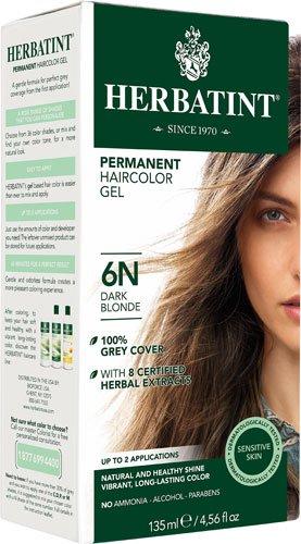 Herbatint Permanent Haircolor Gel 6N Dark Blonde -- 4.56 fl oz - 2pc