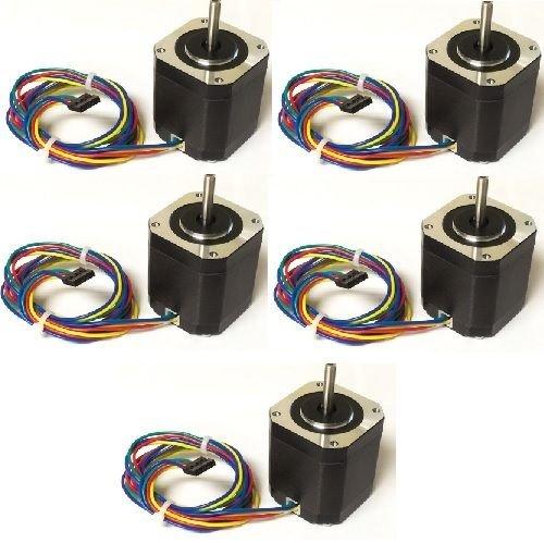 5PCS NEMA17 Stepper Motor 76 oz-in KL17H248-15-4A for 3D Printer