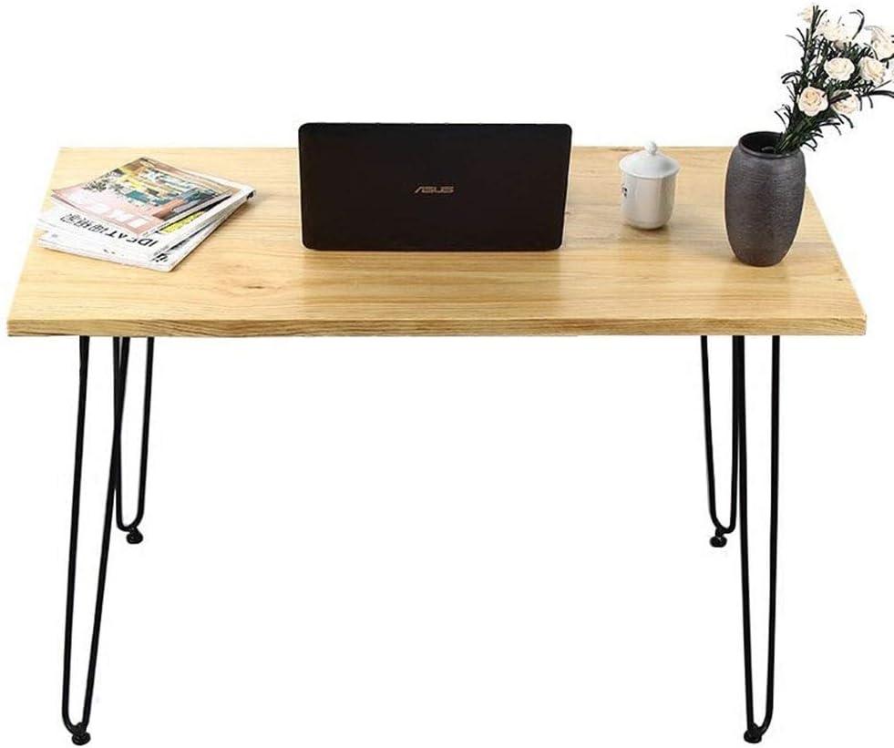 コンピューターデスク ホームオフィスのためのシンプルな素朴な産業用コンピュータライティングデスク ワークデスク シンプルデスク (Color : Black, Size : 150x60x75cm)