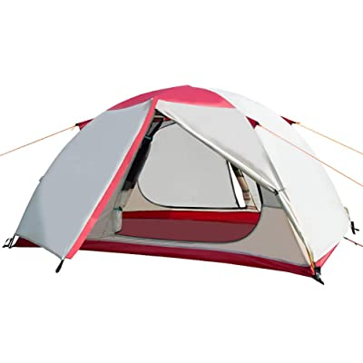 2 Person Camping Dome Tent with Carry Bag, Lightweight Waterproof Portable Backpacking Tent for Outdoor Camping/Hiking: Sports & Outdoors